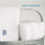 Wipe & washcloths in basket