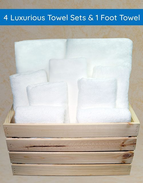 4-Luxurious-Towel-Sets-&-1-Foot-Towel